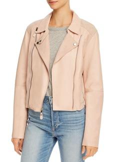 PAIGE Silvie Leather & Suede Moto Jacket