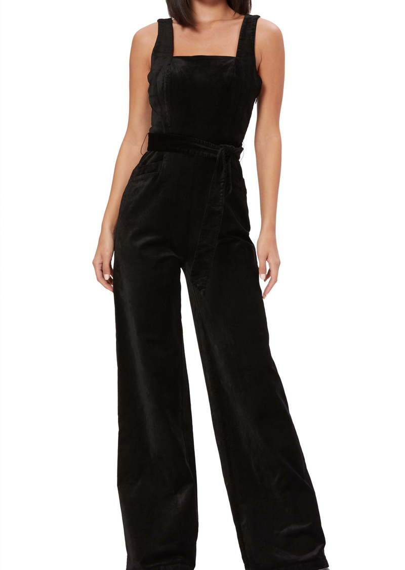 PAIGE Topanga Sleeveless Stretch Velvet Jumpsuit