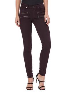 PAIGE Transcend - Edgemont High Waist Skinny Jeans (Deep Vino)