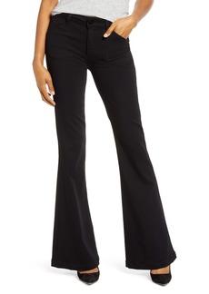 PAIGE Transcend - Genevieve High Waist Flare Jeans (Black Shadow)