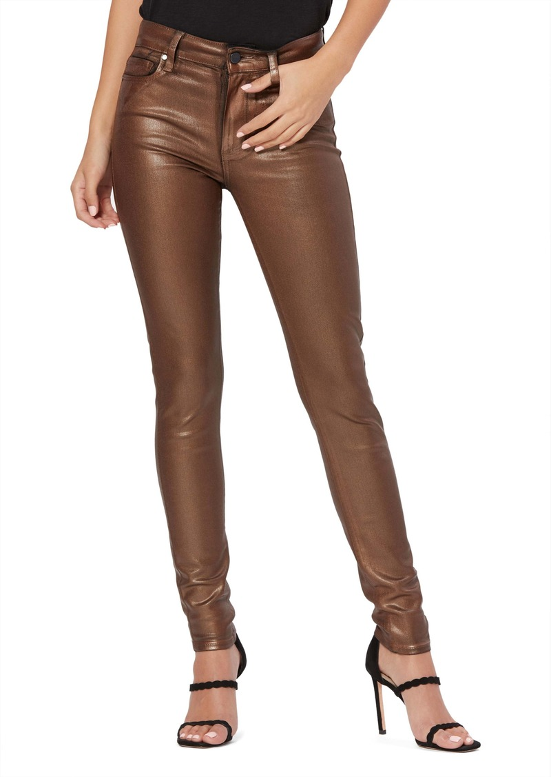PAIGE Transcend - Hoxton High Waist Coated Ankle Skinny Jeans (Pearlized Copper)