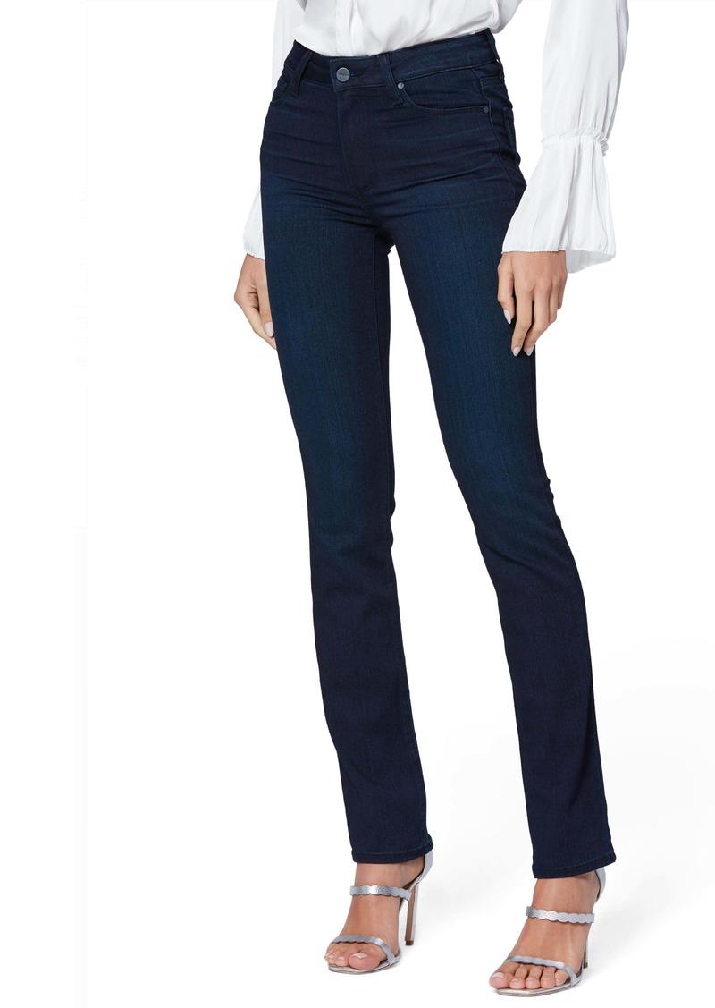 PAIGE Transcend - Hoxton High Waist Slim Straight Leg Jeans (Cinema)