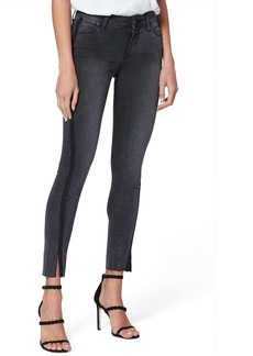 PAIGE Transcend - Verdugo Raw Hem Ankle Skinny Jeans (Black Granite)