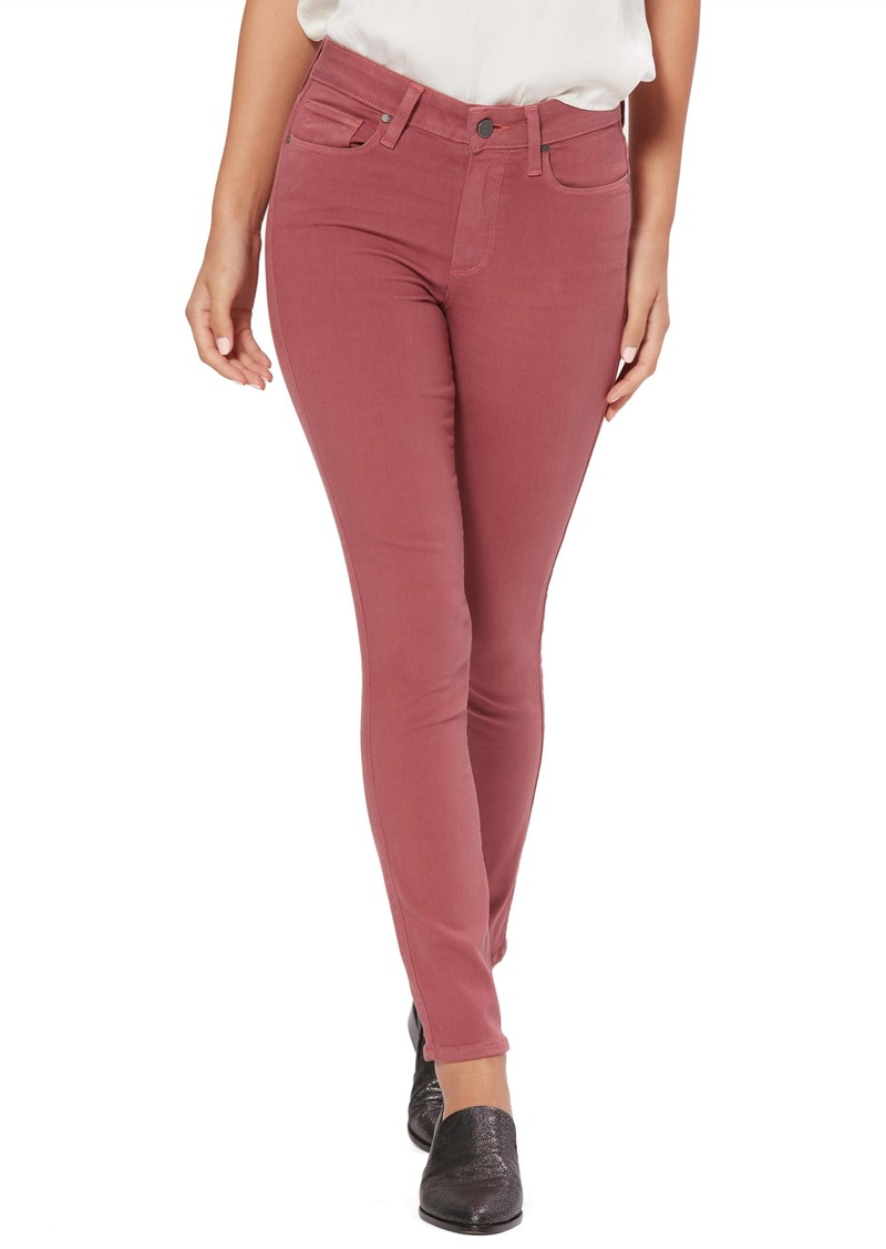 PAIGE Transcend- Hoxton High Waist Ankle Skinny Jeans (Deco Rose)