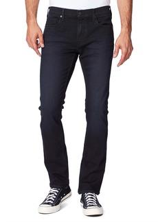 PAIGE Transcend Federal Black Slim Straight Leg Jeans (Tremont)