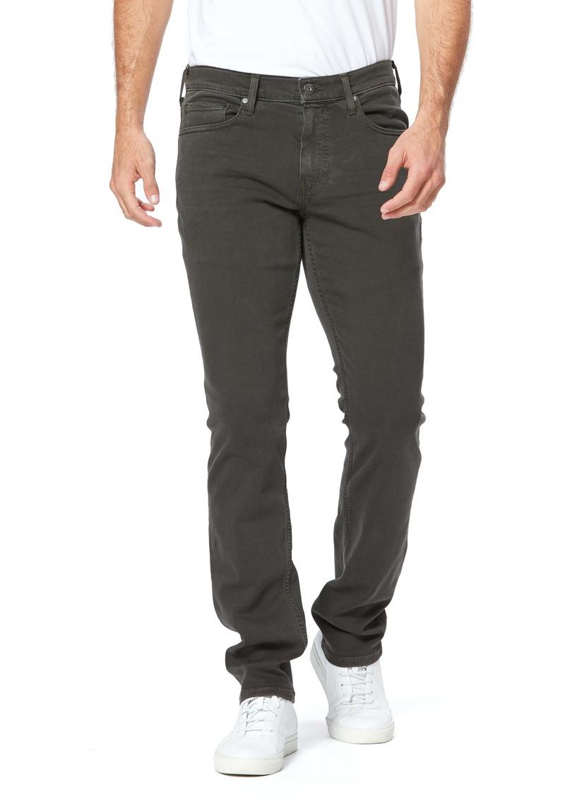 PAIGE Transcend Federal Slim Straight Leg Jeans (Vintage Olive Black)