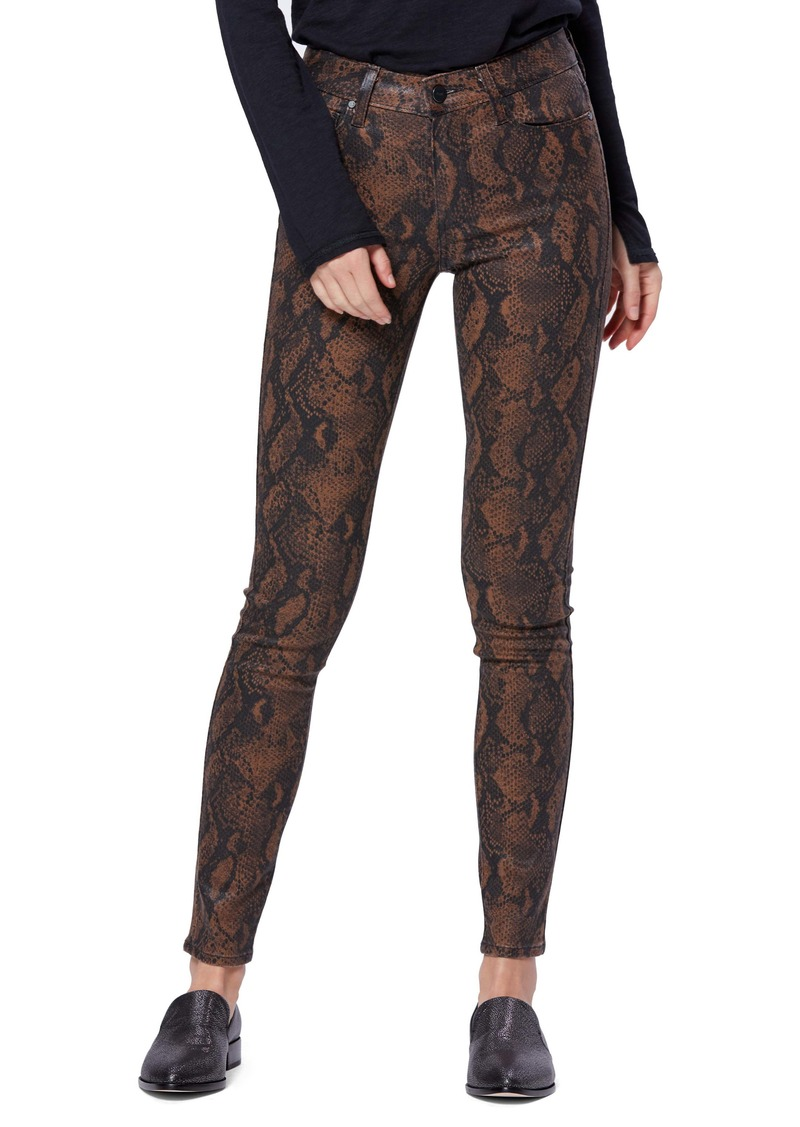 PAIGE Transcend Hoxton Coated Ultra Skinny Jeans
