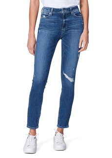 PAIGE Transcend Hoxton High Waist Ankle Skinny Jeans (Roadie Destructed)