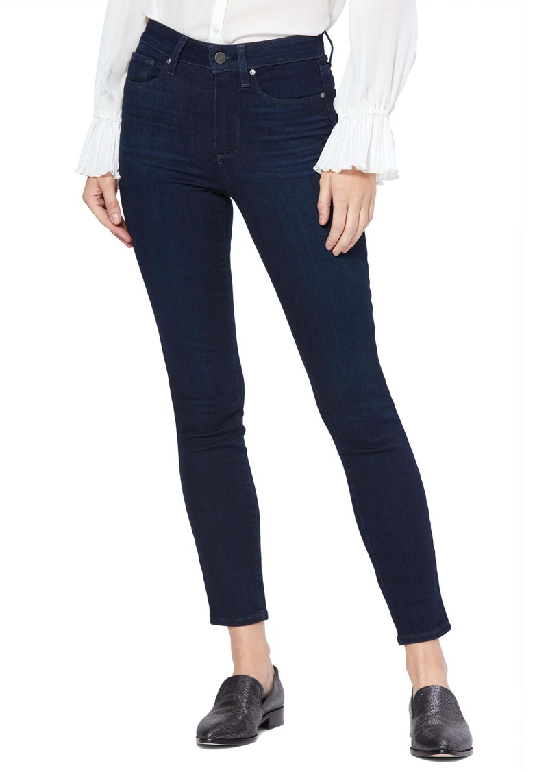 PAIGE Transcend Hoxton High Waist Ankle Skinny Jeans (Telluride)