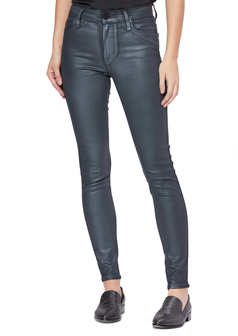 PAIGE Transcend Hoxton High Waist Coated Skinny Jeans (Pearlized Foil)
