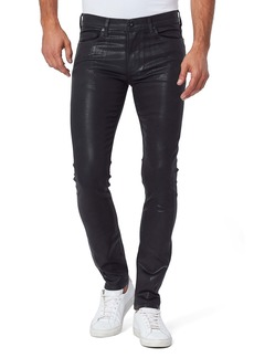 PAIGE Transcend Lennox Slim Fit Jeans (Black Coated)