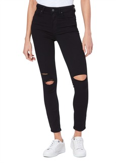 PAIGE Transcend Margot High Waist Ripped Ankle Skinny Jeans (Black Anchor Deconstructed)