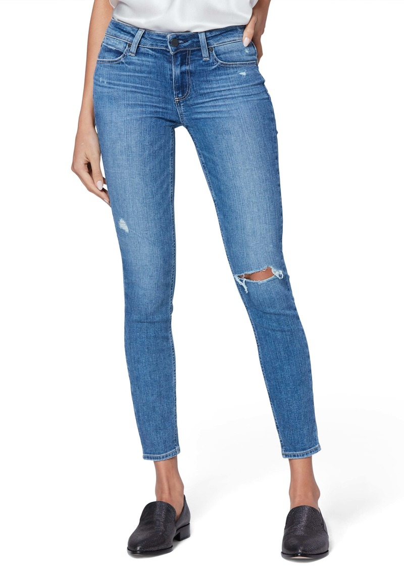 PAIGE Verdugo Ripped Ankle Ultra Skinny Jeans (Westbound Destructed)