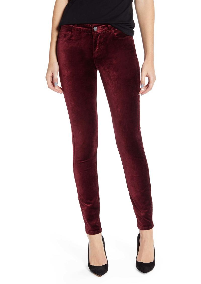 PAIGE Verdugo Velveteen Ankle Skinny Jeans (Burgundy)