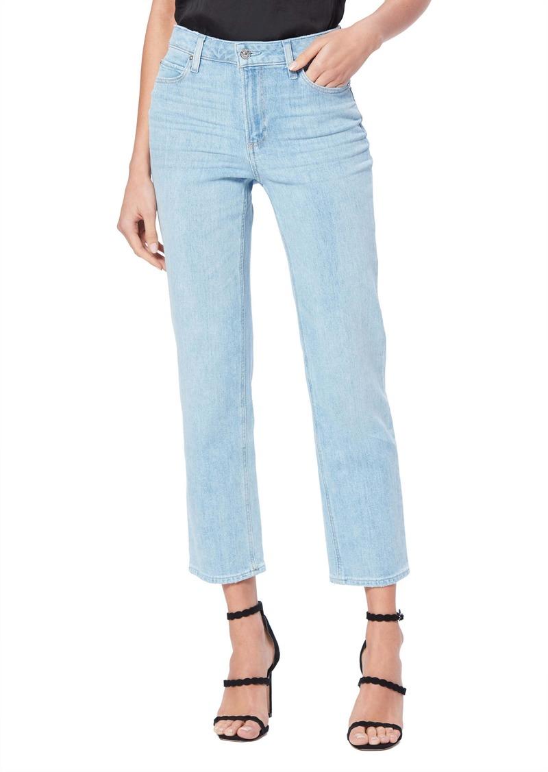 PAIGE Vintage Noella High Waist Crop Straight Leg Jeans (Landslide)