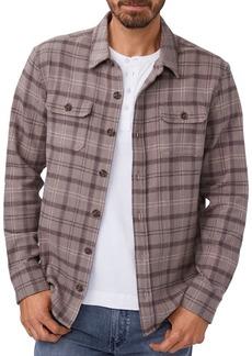 PAIGE Williams Plaid Regular Fit Button Down Shirt