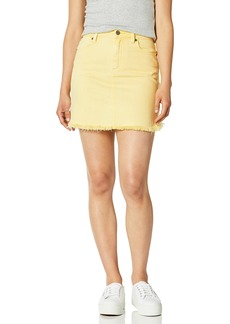 PAIGE Women's Aideen Hi Rise Skirt w/Curved Fray Hem
