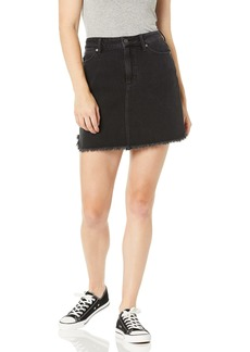 PAIGE Women's Aideen Skirt w/Curved Fray Hem