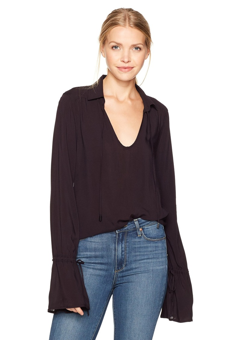 PAIGE Women's Calissa Shirt Black Cherry L