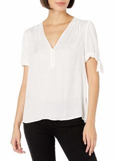 PAIGE Women's Emerie Short Sleeve Blouse  L