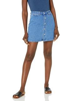 PAIGE Women's ESMA Hi Rise A Line Skirt w/Snaps