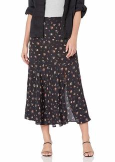 PAIGE Women's Kacie Vintage Inspired HIGH Waisted MIDI Skirt  S