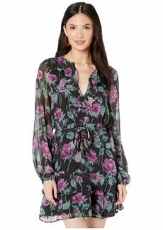 PAIGE Women's Lucette Dress Black/Dark Orchid M