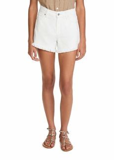 PAIGE Women's Noella Cut Off Shorts  White