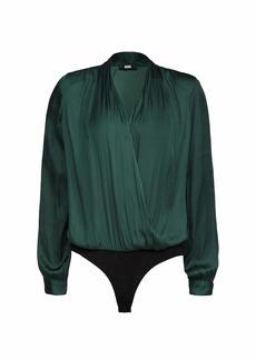 PAIGE Women's Sevilla Thong Bodysuit  Green