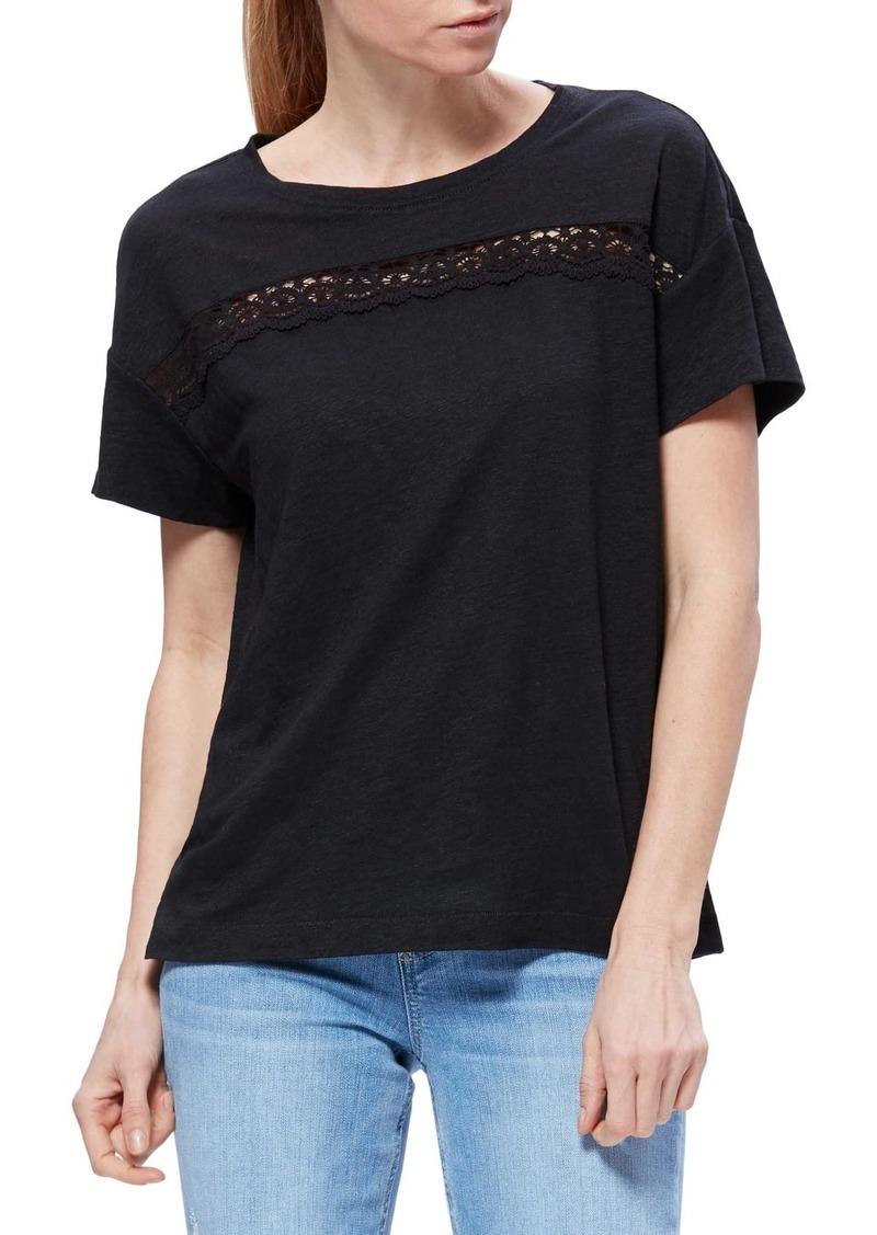 Paige Payson Linen Lace Trim T-Shirt