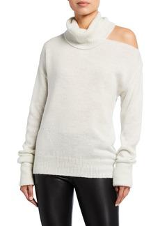 Paige Raundi Shoulder-Cutout Turtleneck Sweater