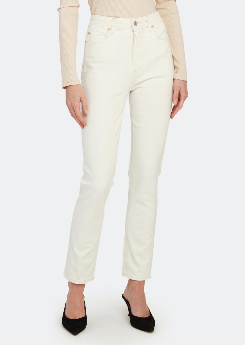 Sarah High Rise Slim Straight Jeans