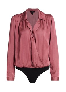 Paige Sevynne Surplice Shirt Bodysuit