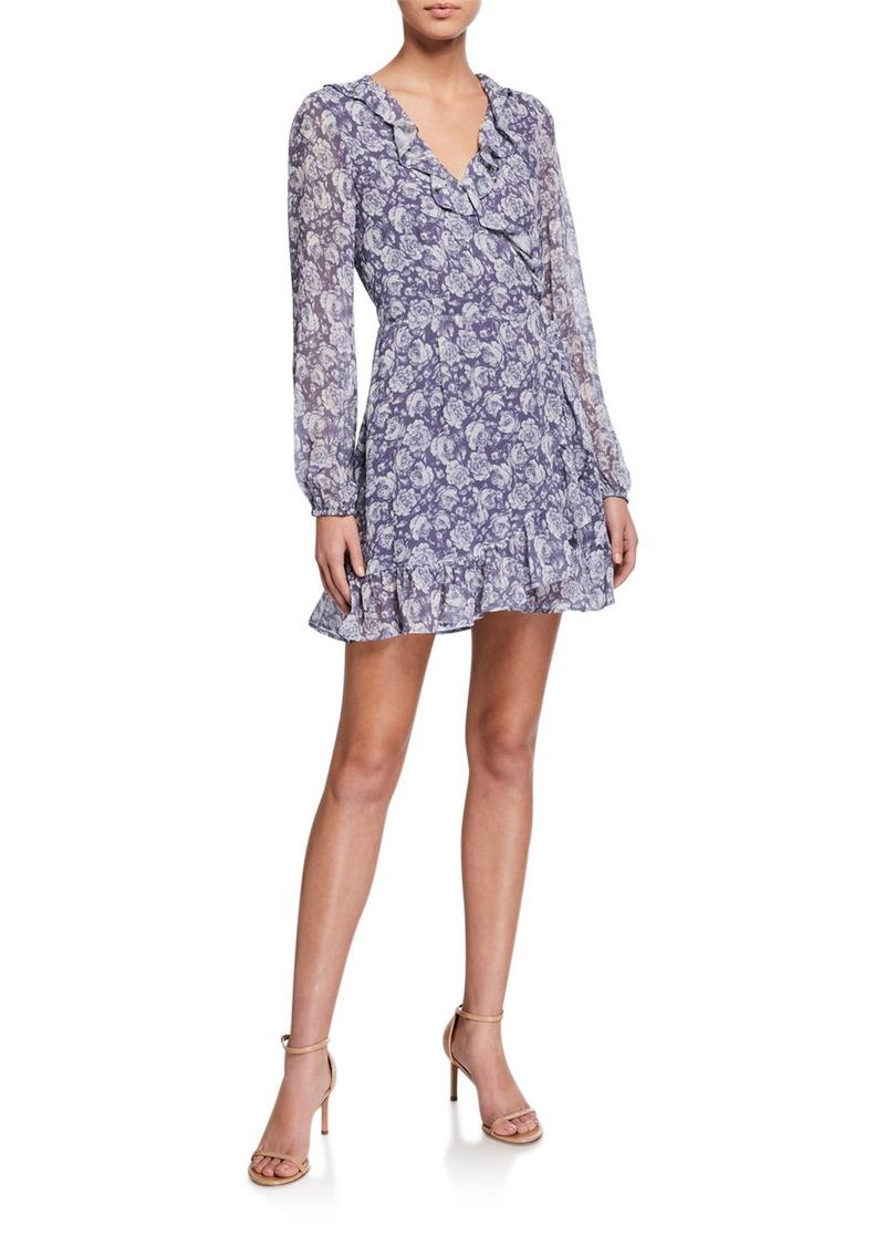 Paige Shawna Floral-Print Ruffle Wrap Dress