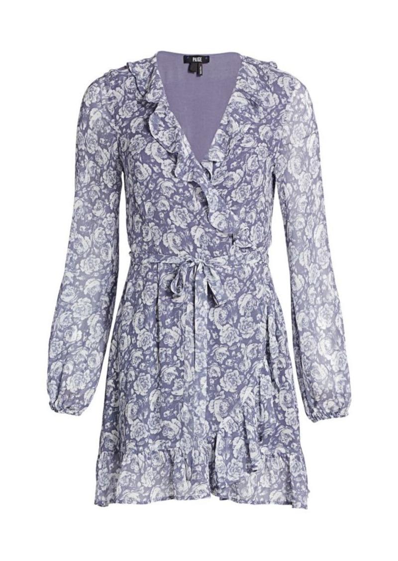 Paige Shawna Floral Print Silk Wrap Dress