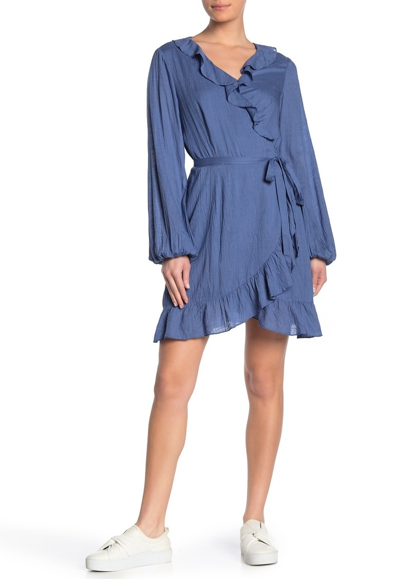 Paige Shawna Ruffled Wrap Dress