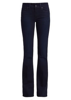 Paige Skyline Mid-Rise High-Rose Bootcut Jeans