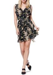 Paige Tia Floral Ruffle Silk Dress