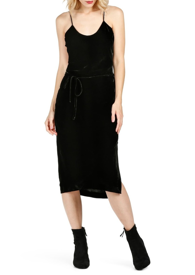 Paige Tressa Velvet Midi Slip Dress