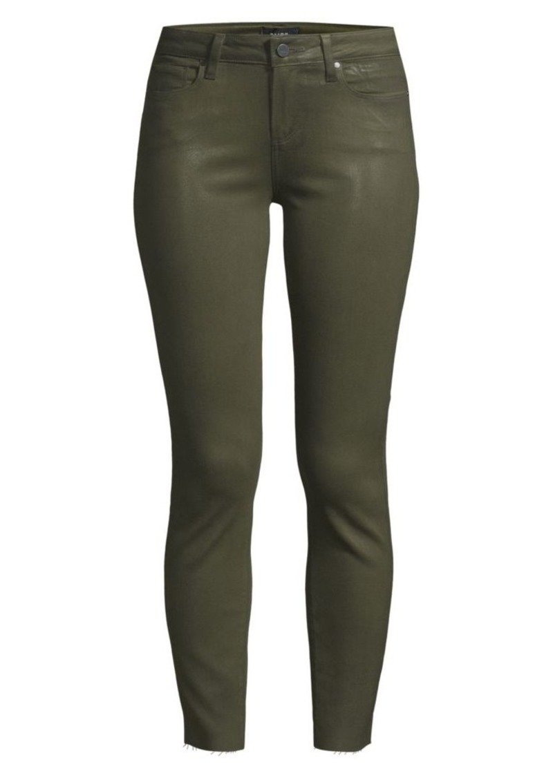 Paige Verdugo Mid-Rise Coated Skinny Jeans
