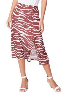 Women's Paige Larsa Animal Print Midi Skirt