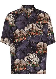 Palm Angels skeleton-print short-sleeve shirt
