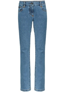 Palm Angels arch logo print straight jeans