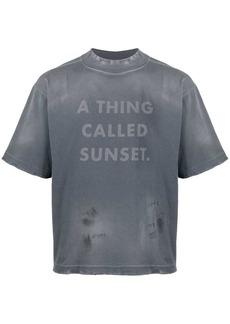 Palm Angels slogan print T-shirt