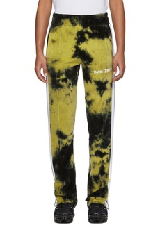 Palm Angels Black & Yellow Chenille Tie-Dye Track Pants