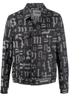 Palm Angels Monogram button-up denim jacket