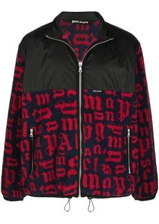 Palm Angels panelled monogram pile jacket