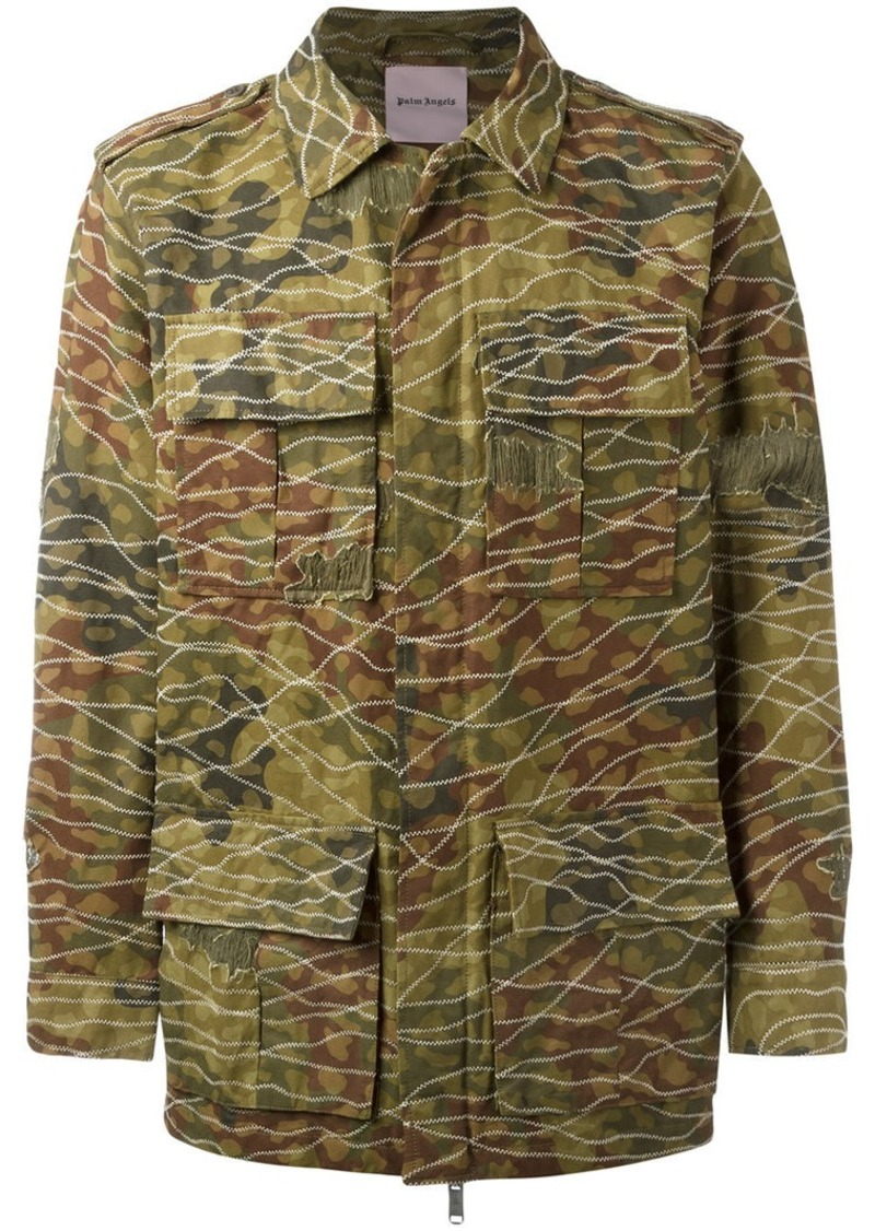 37d7e3863dd26 Palm Angels camouflage print military jacket | Outerwear