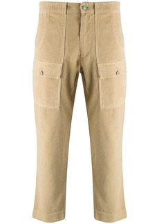 Palm Angels cropped corduroy trousers