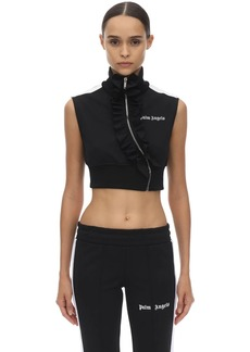 Palm Angels Cropped Techno Jersey Top